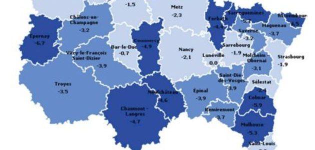 Près de 20000 emplois perdus en Alsace en un an