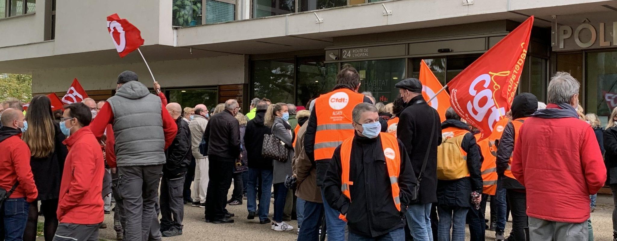 Manifestation des salariés du bailleur Ophéa, une première depuis 25 ans