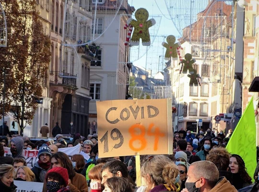 Manifestation contre les restrictions sanitaires samedi