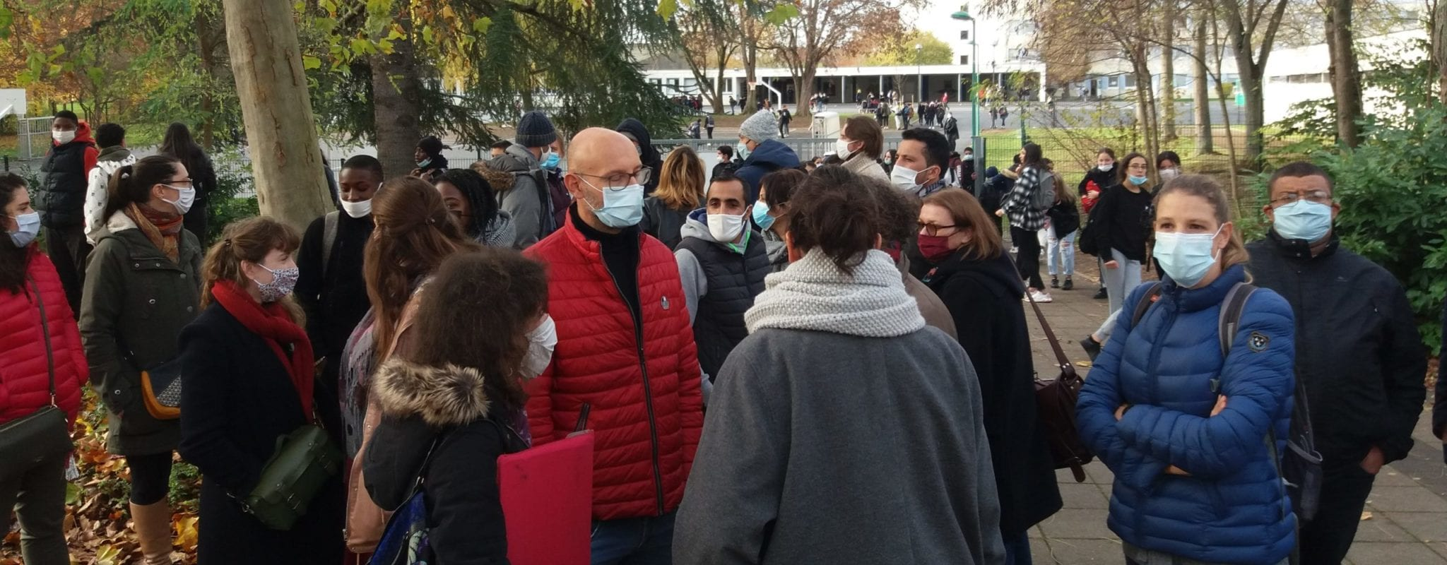 Grève spontanée des enseignants au collège Sophie Germain mardi