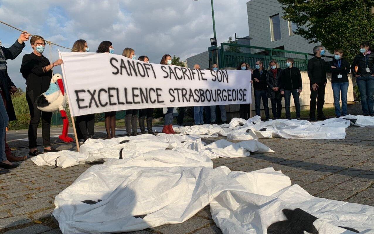 À Strasbourg, un laboratoire de recherche sacrifié par Sanofi sans égard pour ses salariés