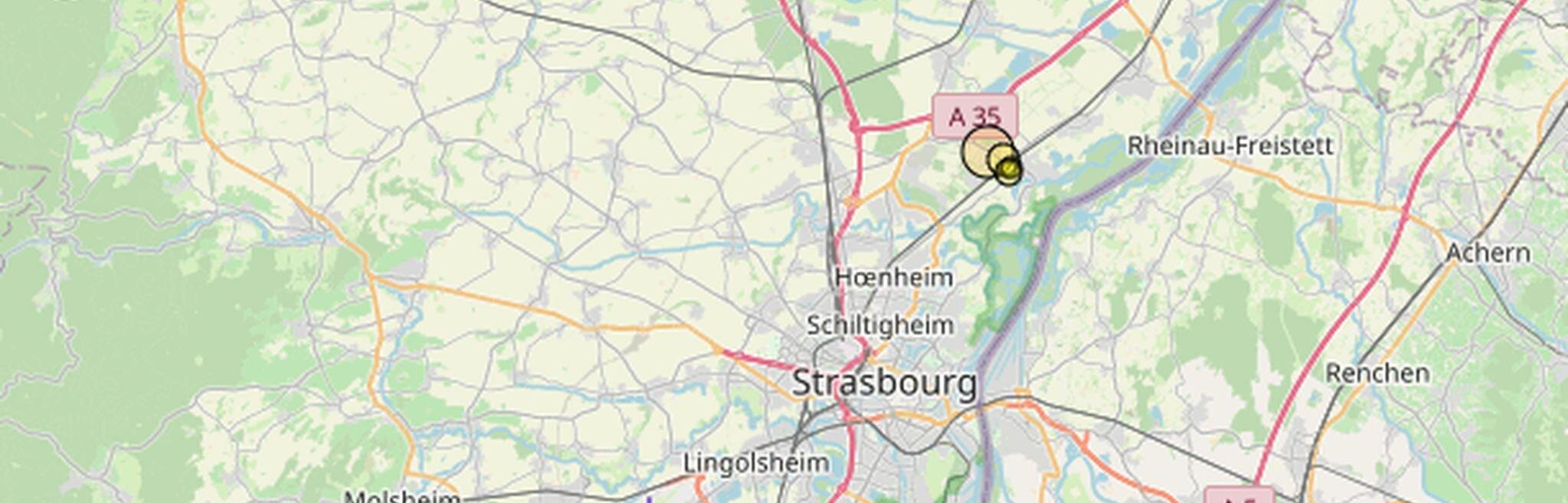 Séisme de magnitude 3,6 au nord de Strasbourg vendredi soir