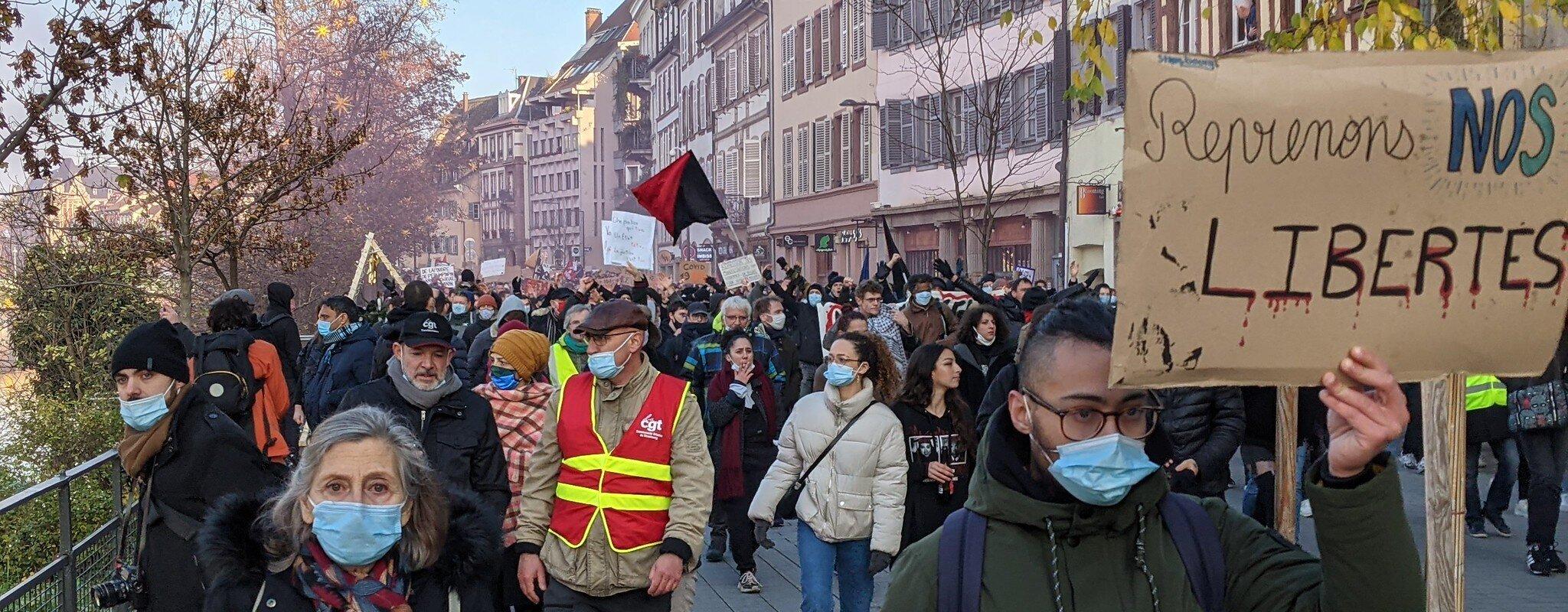 Manifestation contre la loi «séparatismes» et «sécurité globale» samedi