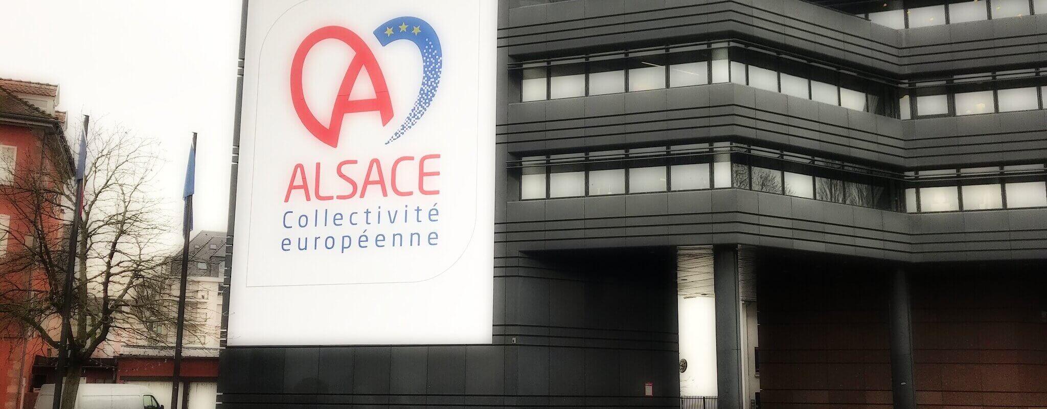 Attaquée sur son logo, la collectivité d'Alsace de nouveau ciblée par les régionalistes