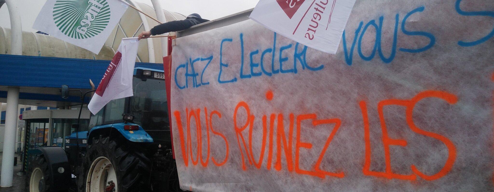 Trois manifestations d'agriculteurs pour une meilleure rémunération