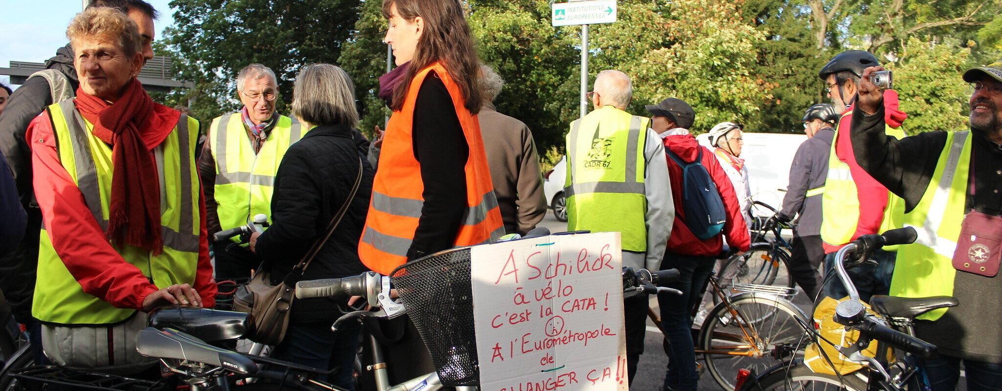 Pour plus de pistes cyclables, le collectif Vélorution appelle à manifester route de Bischwiller samedi