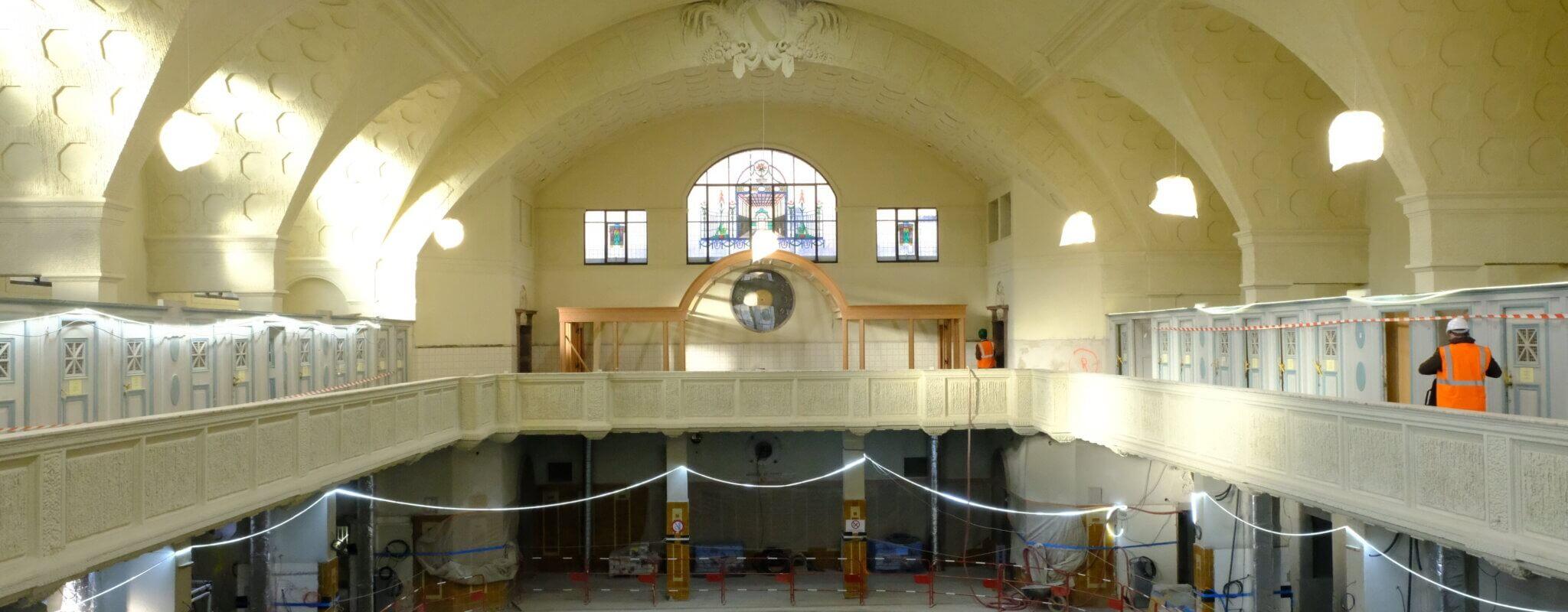 En rénovation pour une ouverture fin 2021, les premières images des Bains municipaux