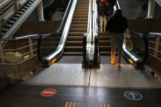 escalators gare centrale