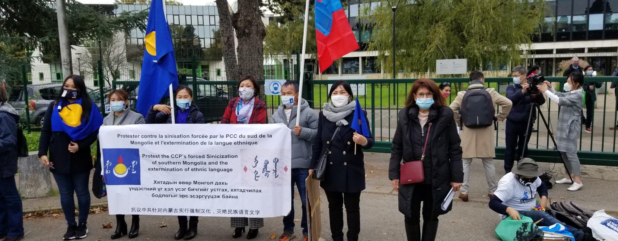 Manifestation contre l'implantation de l'entreprise Huawei à Brumath et les Instituts Confucius jeudi