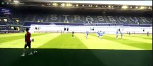 Pour retourner au stade de la Meinau, j'ai testé le «mur bleu connecté» du Racing