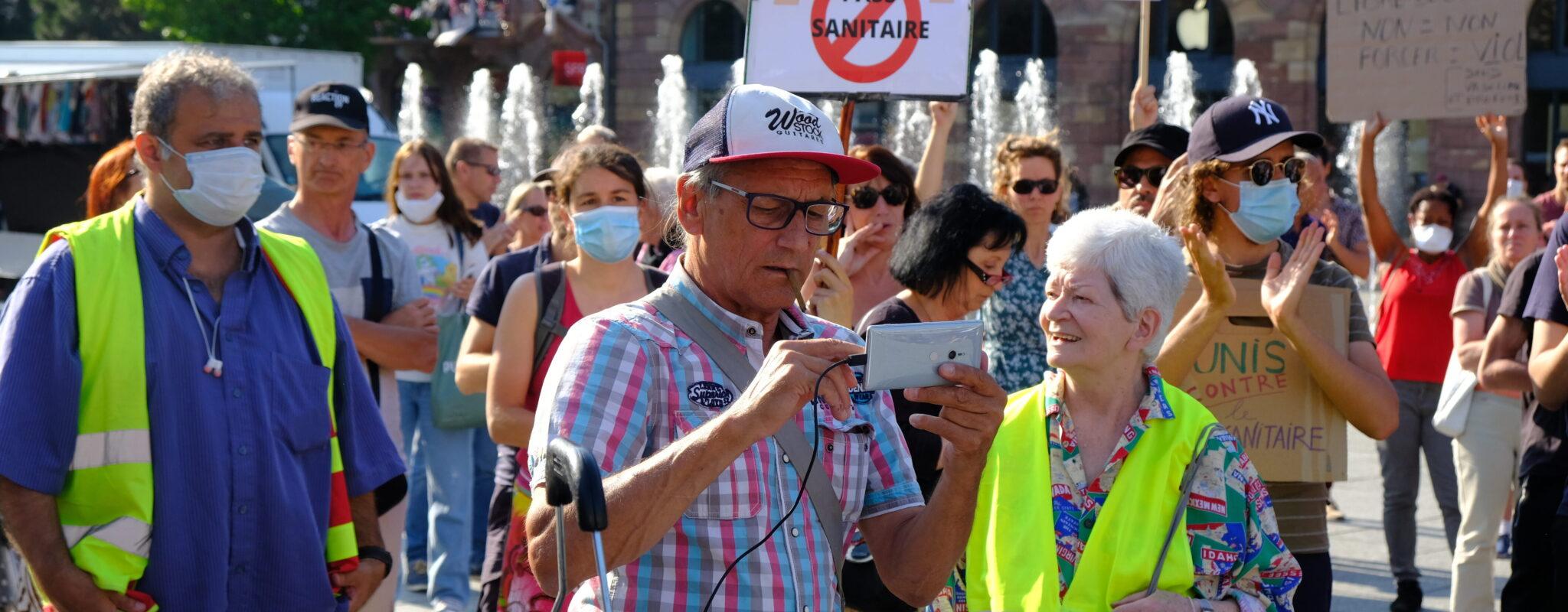 Jeudi, sixième rassemblement contre le pass sanitaire à Strasbourg
