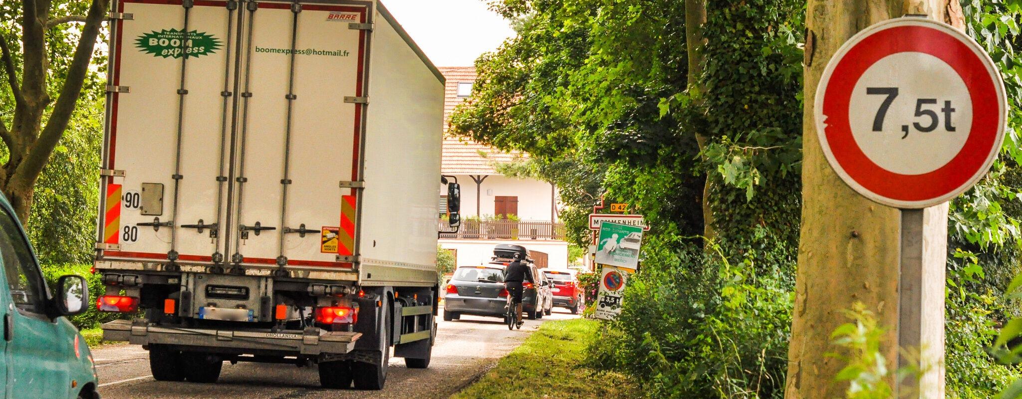 Mommenheim, un village devenu autoroute